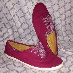 Dark Pink Keds size 6
